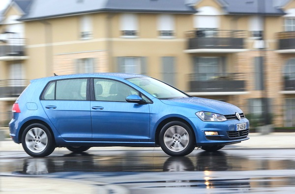 VW Golf Sweden February 2014. Picture courtesy of largus.fr