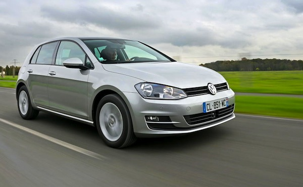 VW Golf Portugal October 2014. Picture courtesy of largus.fr