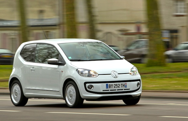 VW Up Slovakia August 2014. Picture courtesy of largus.fr