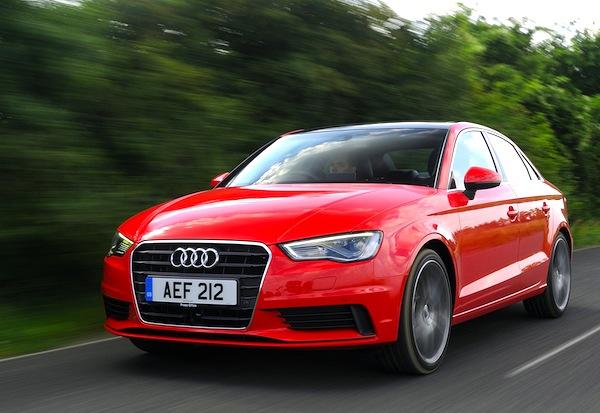Audi A3 UK January 2014