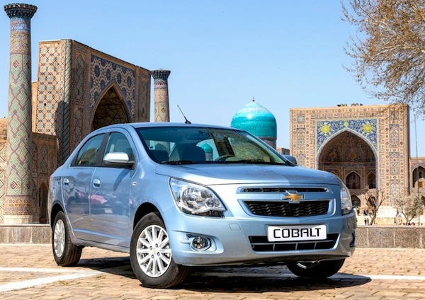 Chevrolet Cobalt Kazakhstan September 2014. Picture courtesy of zr.ru
