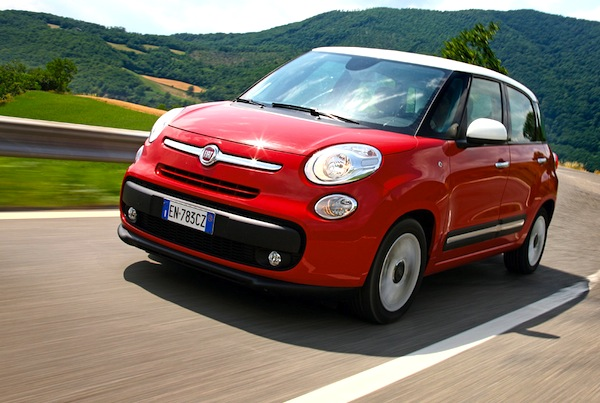 Fiat 500L Romania April 2015. Picture courtesy of quattroruote.it