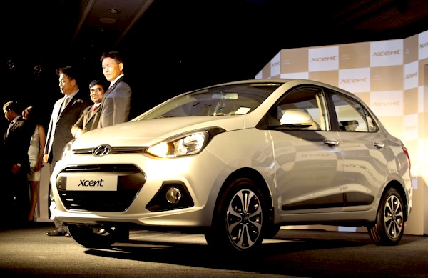Hyundai xcent India January 2014. Picture courtesy of motoroids.com