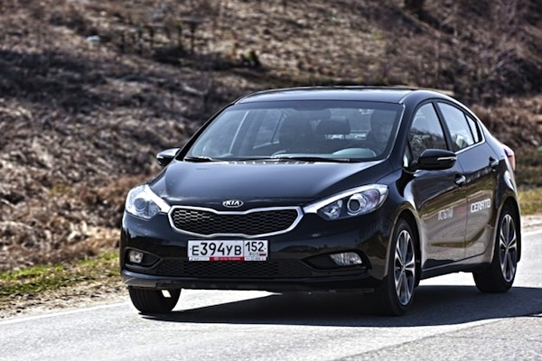 Kia Cerato Russia December 2013. Picture courtesy of drivenn.ru