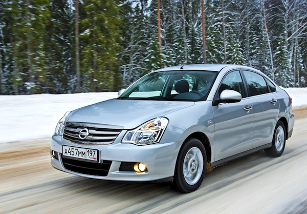 Nissan Almera Russia April 2014. Picture courtesy of zr.ru
