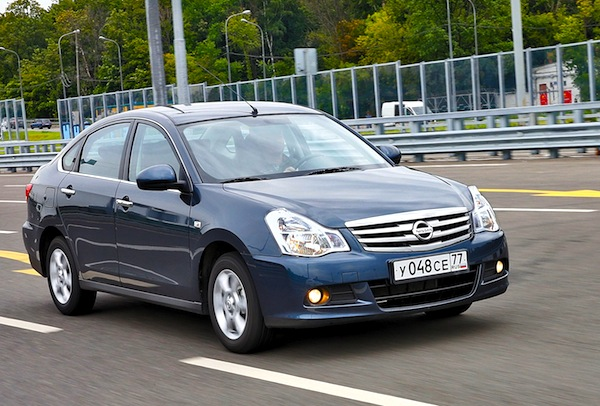 Nissan Almera Russia January 2014. Picture courtesy of zr.ru