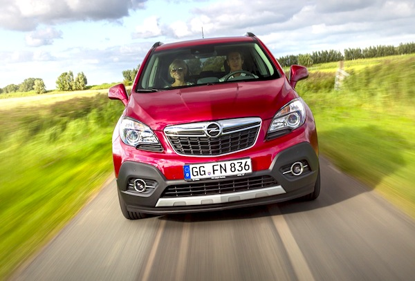 Opel Mokka Germany January 2014. Picture courtesy of largus.fr