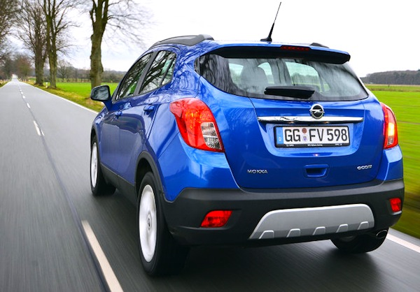 Opel Mokka Switzerland January 2014. Picture courtesy of autobild.de