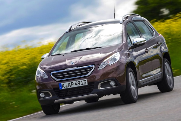 Peugeot 2008 Netherlands April 2014. Picture courtesy of autobild.de