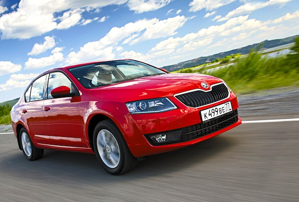 Skoda Octavia Russia December 2013. Picture courtesy of zr.ru