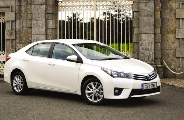 Toyota Corolla Ireland January 2014. Picture courtesy of carzone.ie