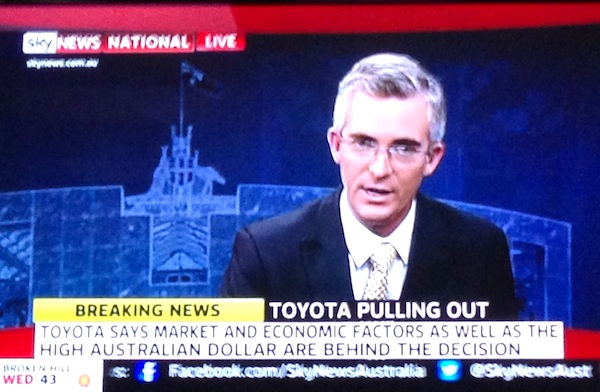 Toyota pulls out of Australia 10 Feb 2014