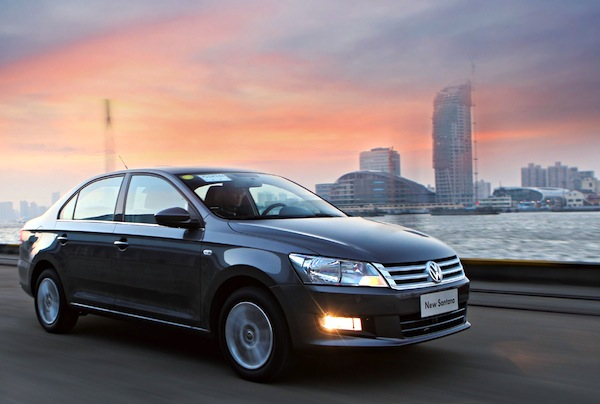 VW Santana China September 2014 Picture courtesy of bitauto