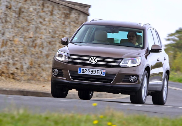 VW Tiguan Spain January 2014. Picture courtesy of largus.fr