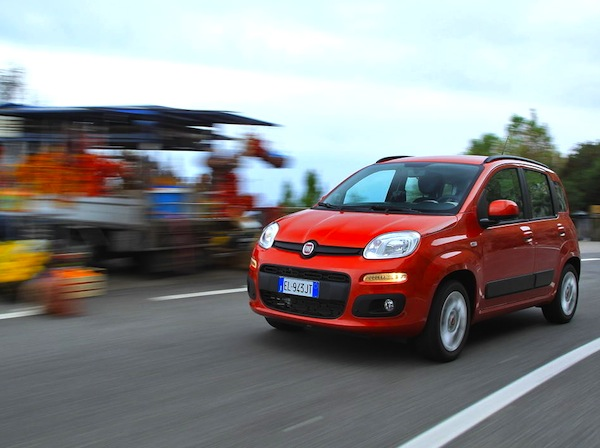 Fiat Panda Italy February 2014. Picture courtesy of largus.fr