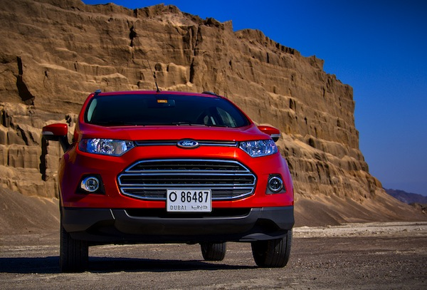 Ford Ecosport UAE January 2014. Picture courtesy of motoringme.com