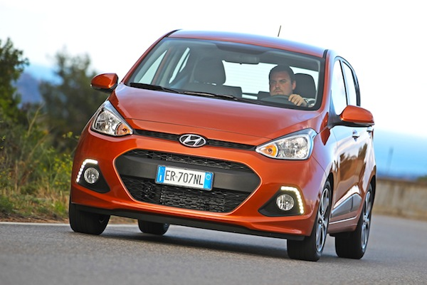 Hyundai i10 Netherlands February 2014. Picture courtesy of largus.fr