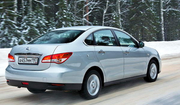 Nissan Almera Russia February 2014. Picture courtesy of zr.ru
