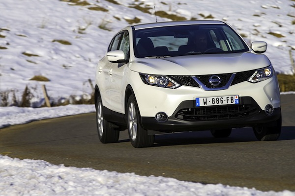 Nissan Qashqai Switzerland February 2014. Picture courtesy of largus.fr