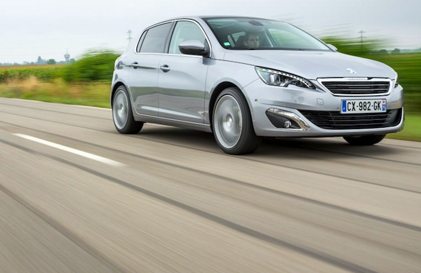 Peugeot 308 Denmark May 2014. Picture courtesy of largus.fr