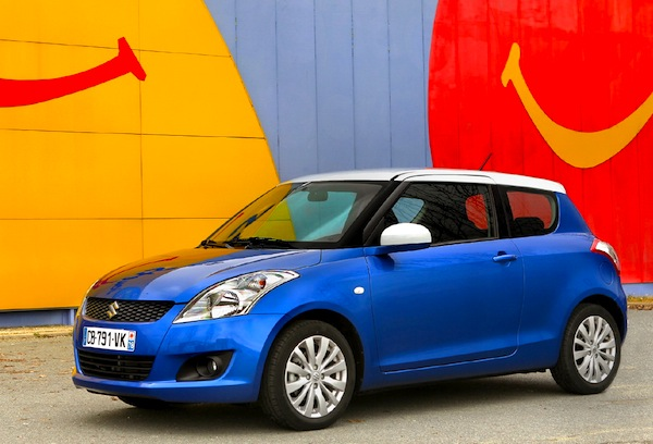 Suzuki Swift Greece February 2014. Picture courtesy of largus.fr