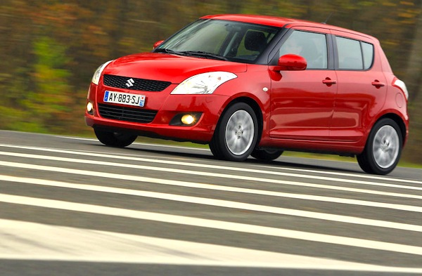 Suzuki Swift Hungary February 2014. Picture courtesy of largus.fr