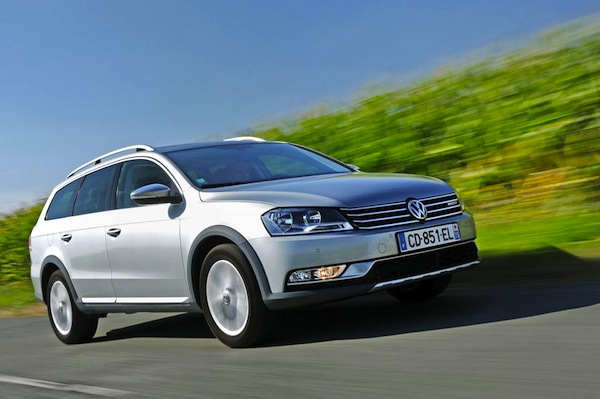 VW Passat Ireland February 2014. Picture courtesy of largus.fr