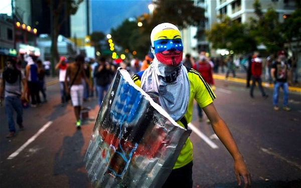 Venezuela Protests. Picture courtesy of telegraph.co.uk