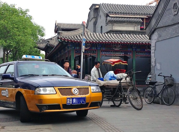 VW Santana taxi in Qudeng hutong