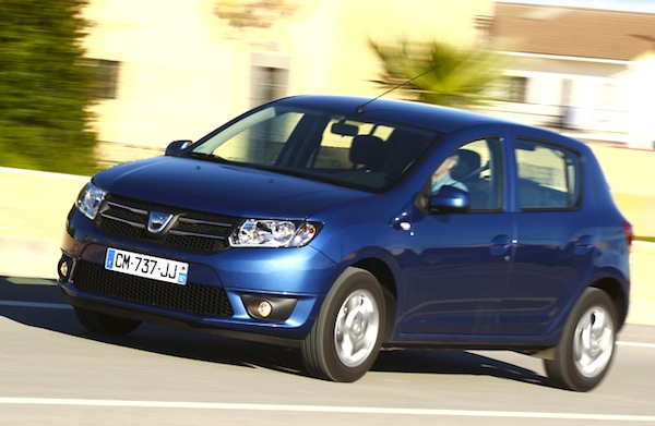 Dacia Sandero Europe March 2014. Picture courtesy of automobile-magazine.fr