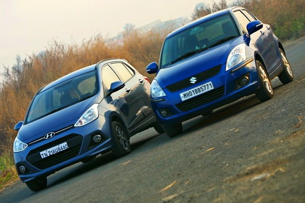 Hyundai Grand i10 Maruti Swift. Picture courtesy of zigwheels.com