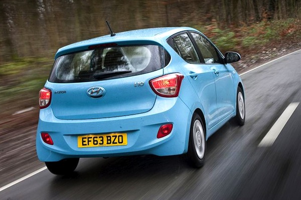 Hyundai i10 UK May 2015. Picture courtesy of honestjohn.co.uk