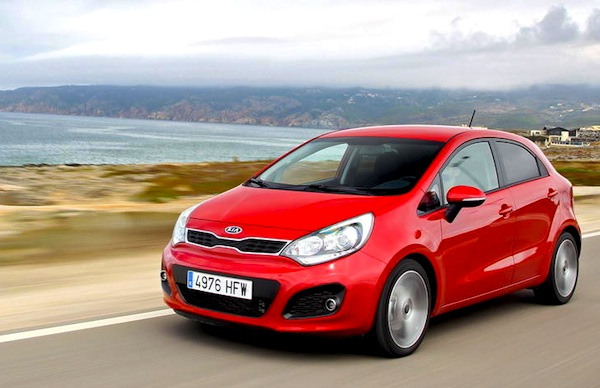 Kia Rio Finland March 2014. Picture courtesy of largus.fr