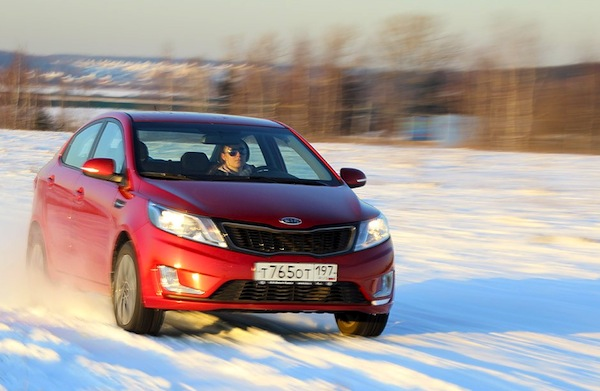 Kia Rio Kazakhstan March 2014. Picture courtesy of zr.ru