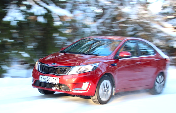Kia Rio Russia March 2014. Picture courtesy of zr.ru