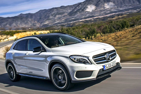 Mercedes GLA Switzerland August 2014. Picture courtesy of autobild.de