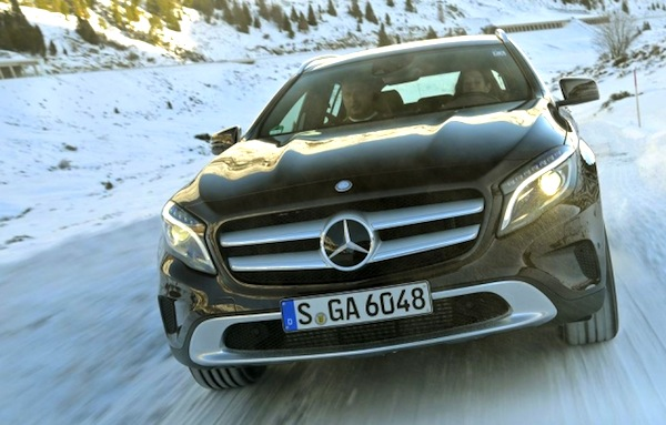 Mercedes GLA Switzerland March 2014. Picture courtesy of autoplenum.at