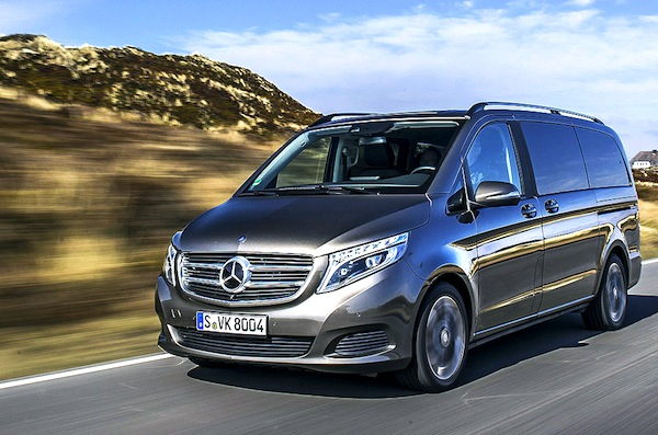 Mercedes V Class Germany March 2014. Picture courtesy of autobild.de