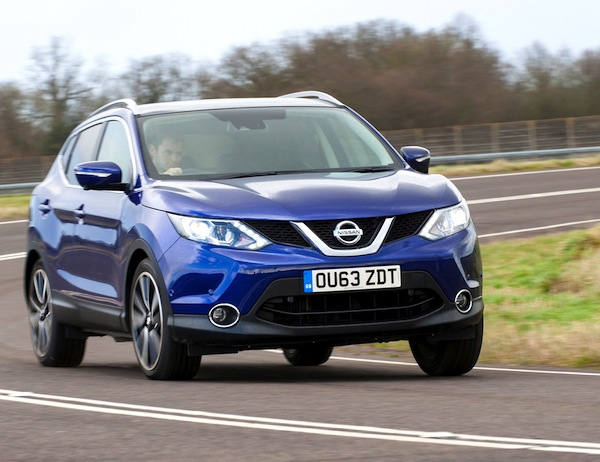 Nissan Qashqai UK March 2014