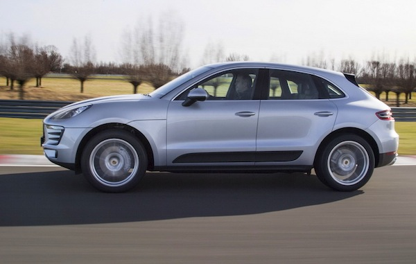 Porsche Macan France March 2014. Picture courtesy of largus.fr