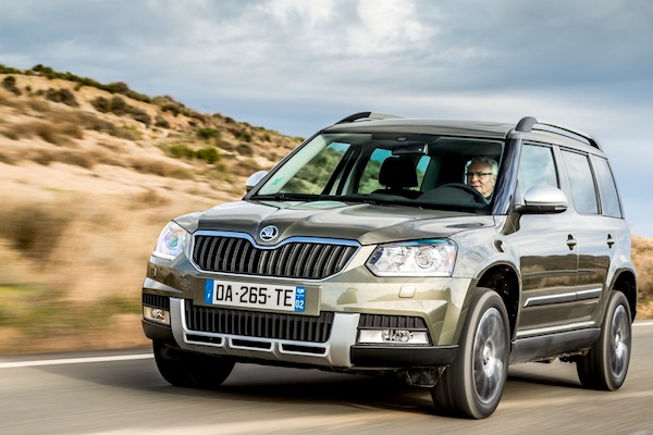 Skoda Yeti Czech Republic July 2014. Picture courtesy of largus.fr