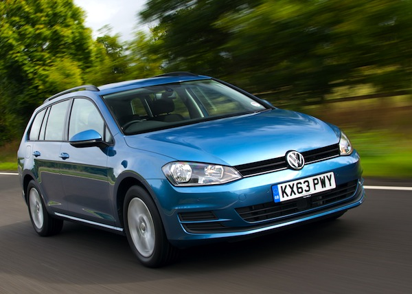 VW Golf UK March 2014