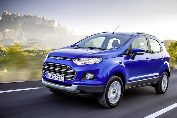 Ford Ecosport Italy April 2014. Picture courtesy of largus.fr