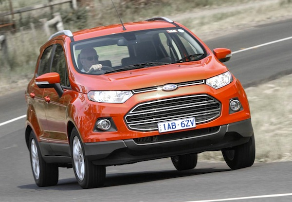 Ford Ecosport South Africa April 2014. Picture courtest of themotorreport.com.au