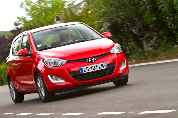 Hyundai i20 Turkey April 2014. Picture courtesy of largus.fr