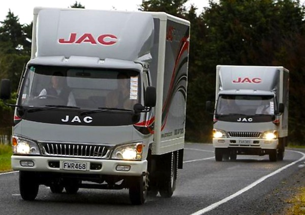 JAC Light Trucks. Picture courtesy of enbac.com