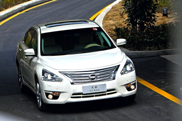 Nissan Teana China April 2014. Picture courtesy of bitauto.com