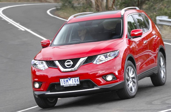 Nissan X-Trail New Zealand April 2014. Picture courtesy of themotorreport.com.au