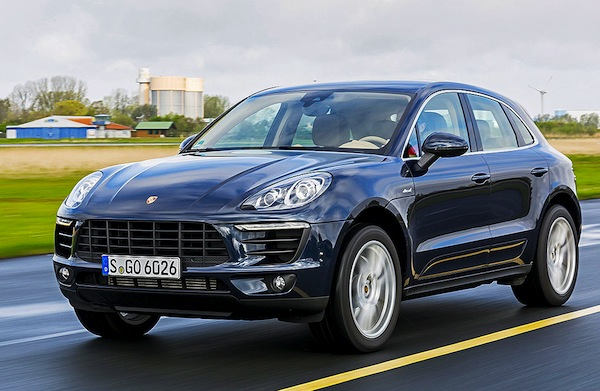 Porsche Macan Germany April 2014. Picture courtesy of autobild.de