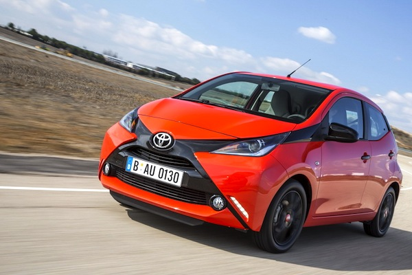 Toyota Aygo Greece April 2014. Picture courtesy of largus.fr